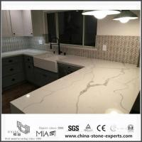 China Most Popular White Quartz Countertop Colors for Kitchen Design on sale