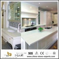 China Pure White Laminate Quartz Countertops for Kitchen and Bathroom with Cheap Cost on sale