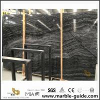 China Chinese Black Antique Vein Wood Marble Slab For Bathroom Floor Tiles on sale