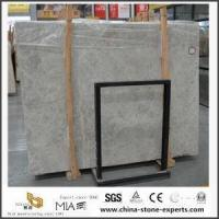 China Natural Grey Cream Marble Stone Slabs For Kitchen And Bathroom Tiles wholesale