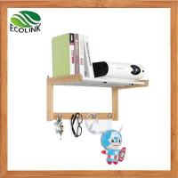 Buy cheap Bamboo Wall Mounted Bathroom Shelf Towel Bar Rack from wholesalers