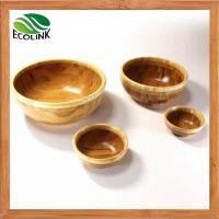 Buy cheap Natural Round Shaped Bamboo Salad Serving Snack Bowl Set from wholesalers