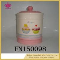 China Wholesale Ceramic Cookie Jar with Lid Seal for Sublimation wholesale