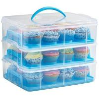China HBlife 3 Layers Cupcake Holder & Cake Carrier Container for 36 Cupcakes (Pink) wholesale