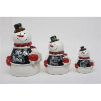 China ECO-Friendly Snowman Embossed Christmas-themed Ceramic Food Canister Sets wholesale