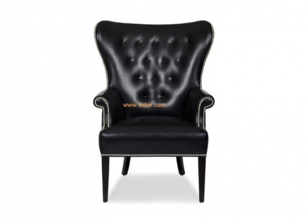 Quality Chesterfield Style Leather Living Room Armchair for sale
