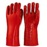 China Red PVC Coated Working Gloves,terry in Palm ,heavy Duty 35cm wholesale