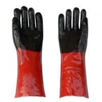 China Double Color PVC Coated Working Gloves with PVC Chips on Palm and Fingers on sale