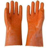 China Black PVC Coated Working Gloves with PVC Chips on Palm and Fingers on sale