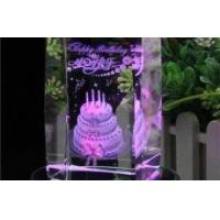 China 3d Laser Birthday Gift Crystal Cubes wholesale