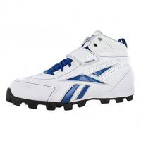 China Reebok Pro Thorpe III ATF Men's Football Shoes Size US 13, Regular Width, Color White/Silver/Royal on sale