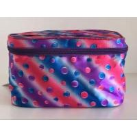 Quality Cosmetic Bag Double Layer Dot Pattern Travel Toiletry Bag Organizer for sale