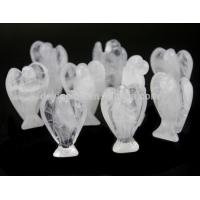 China Wholesale 2 Inch White Quartz Crystal Angel Figurines 40mm for Sale wholesale