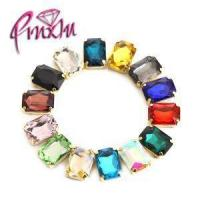 Buy cheap Mix Colors 10x14mm Rectangle Octagon Rhinestones Sewing Gold Claw Flatback Crystal Dance Costumes from wholesalers