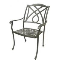 China Outdoor Cast Aluminum Vintage Metal Chairs Arm Chair wholesale