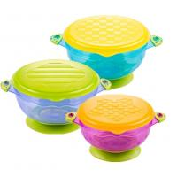 China Baby Suction Bowl Set: 3 different Size Bowls with Lids on sale