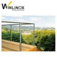 China Inox Wire Rope Balustrade Stainless Steel Wire Railing Fencing wholesale