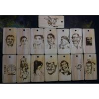 Photo carving on wood by Rhino laser