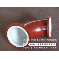 China alumina wear resistant ceramic elbow on sale
