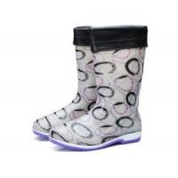 China PVC Women Warm Rain Boots with Fur-lining 2-tone Molded Outsole on sale