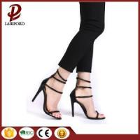 China PU lace up high heel sandals 2017 on sale