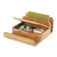 China Natural Bamboo Desktop Organizer With Letter Holder wholesale