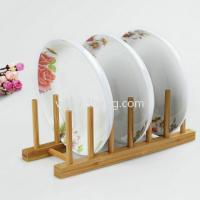 China eco-friendly bamboo dish drying rack for kitchenware wholesale