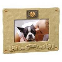 "China Grassland Road's ""Who Rescued Who"" 4"" x 6"" Photo Frame HOME DECOR wholesale"