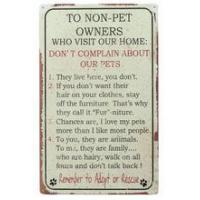 China Ohio Wholesale Non Pet People Rules TIn Sign ANIMAL ITEMS wholesale