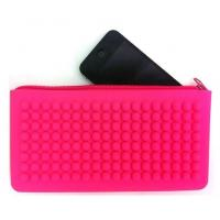 China Silicone jelly colors purse with beaded design wholesale