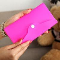 China Silicone Snap Button Closure Ladies Hand Bags Wallets wholesale