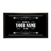 China Custom Printed Bar Runner Welcome To Your Name's Bar Drip Spill Mat wholesale