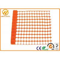 China Eco Friendly Plastic Barrier Fencing , Construction Safety Plastic Mesh Netting wholesale