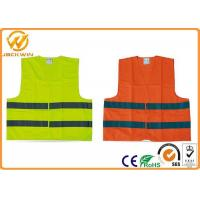 China High Visibility Polyester Reflective Safety Vests FluorescentOrange / Yellow wholesale