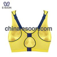 China Big hole sport bra yoga bra yellow bra adjust straps on sale