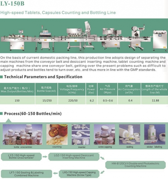 Quality LY-150B high-speed Tablet,Capsules Counting and Bottling Line for sale