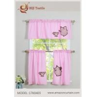 China Cotton Kitchen Curtain Tier & Valance Set MODEL # 17K0403 wholesale
