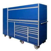 Buy cheap 76inches 12drawers heavy duty Blue Iron tool cabinet combination Powder coating LC7612IBU from wholesalers