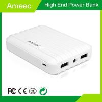 China Good Quality 10400mAh High Capacity Suitcase ABS Mobile Charger Power Bank AMEEC AMJ-K602 wholesale