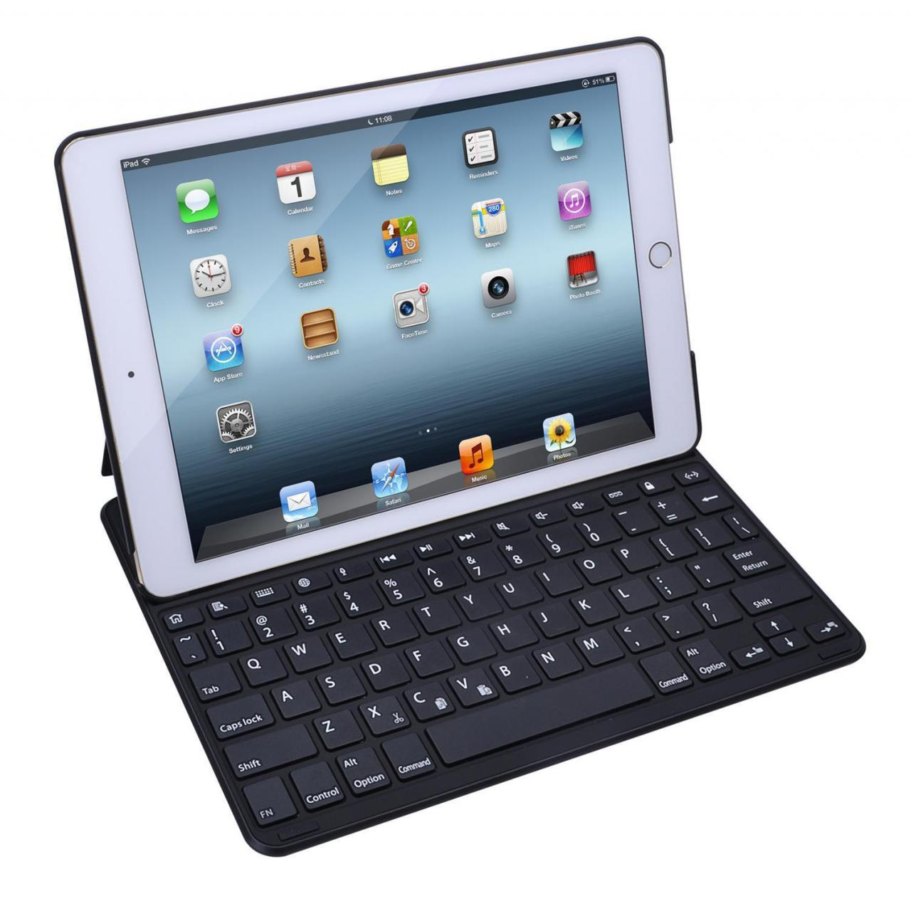 China ultra-thin bluetooth keyboard folio case for iPad Air/Air2/Pro(backlit optional) on sale