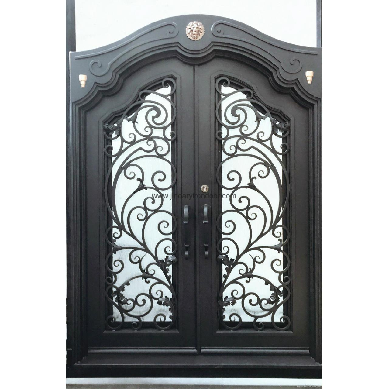 China residential wrought entry doors JDL-M-001 on sale