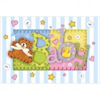 """BABY BLANKET - 54"""" X 72"""" TABLECOVER"""