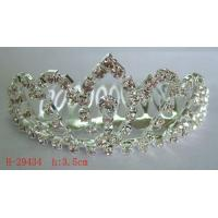 China New Crystal Rhinestone Wedding Heart Hair Clip Hair Comb For Women Bride For Girls on sale
