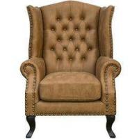 China Leisure Leather Upholstered Hotel Lobby Sofa Antique Style 24'' Arm Height on sale