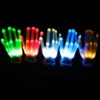China Factory Directly Deal LED Gloves Wholesale Light Up Gloves Luminous Party Gloves 7 Color Light Show wholesale