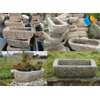 China Antique Pig Rectangular Round Water Stone Troughs on sale