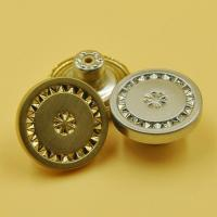 China Engraved Logo Metal Zinc Alloy Jean Button Button Fly Jeans Button with Brushed Finish wholesale