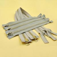 China Separating Zipper Heavy Duty Metal Open Ended Two Way High Quality 5# Zipper for Clothing Zips wholesale