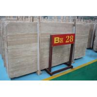 China Crema Travertine Marble Floor And Wall Tile Slab wholesale