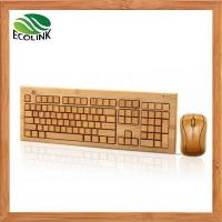China 100% Bamboo Handcrafted Handmade Wireless Keyboard and Mouse Combo wholesale